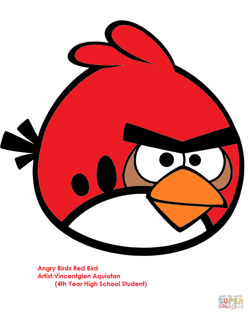 Red-bird-coloring-page by vincentglen on DeviantArt