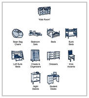 Furniture Icons - Kids Room by Acasigua