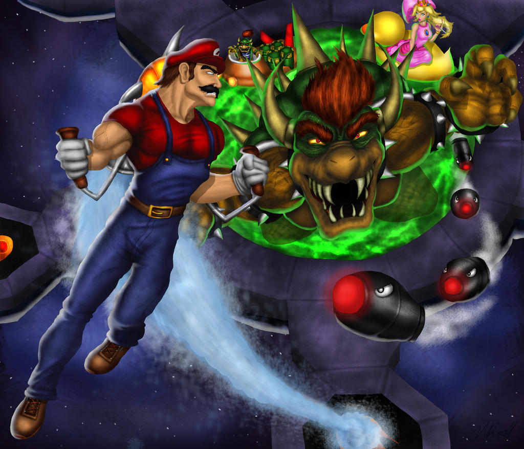 Super Mario Sunshine: Final Bowser Battle by Tycony23