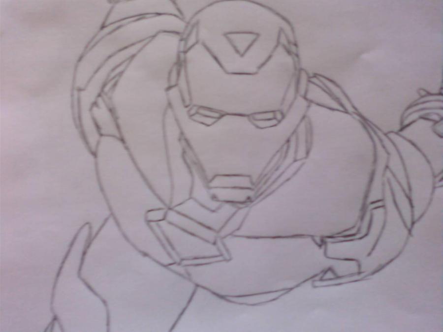 Iron Man Flying Drawings to Draw Iron Man Flying