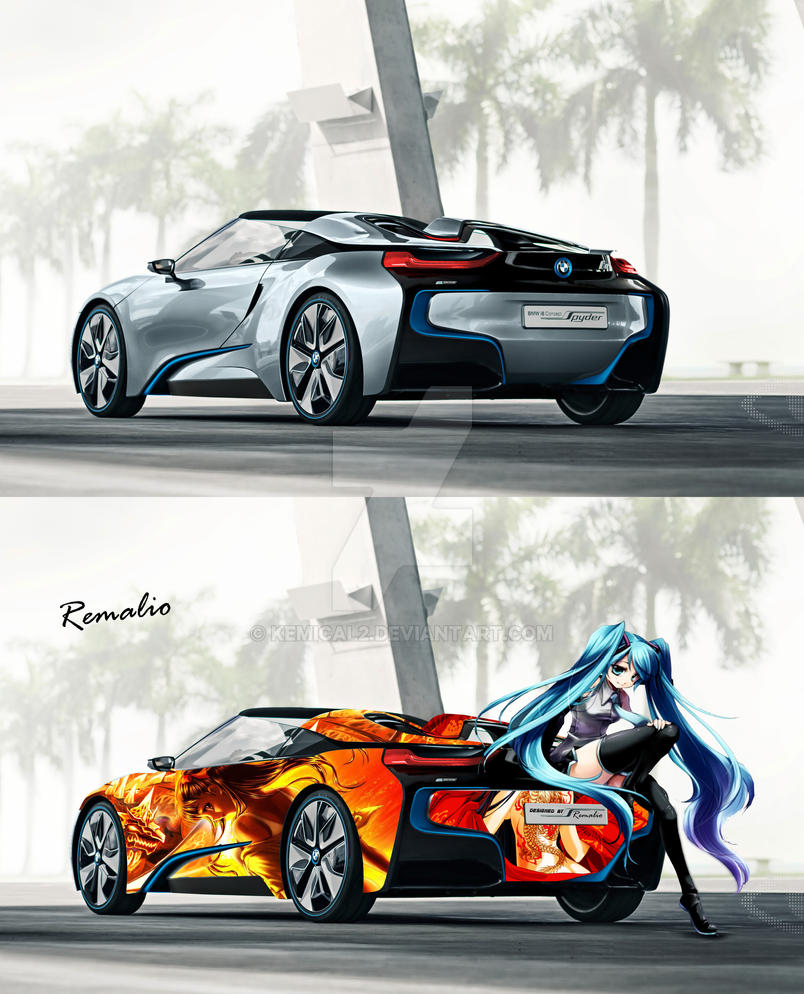 Paint Job For Bmw Concept Car Anime Girl By Kemical2 On Deviantart