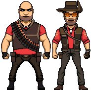 TF 2 Heavy and Sniper by JohnnyMuffintop