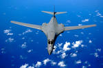 B-1B Lancer over the Pacific Ocean
