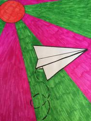 paper plane by kerriontheprairies