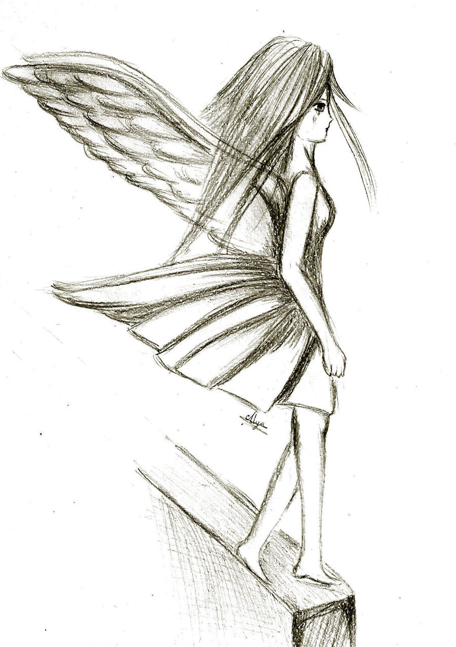 depressed angel drawings - photo #33