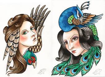 Bird ladies by 23stu