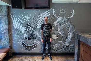 Mural. Korova, Aberdeen
