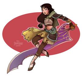 Warrior Mulan by Skirtzzz