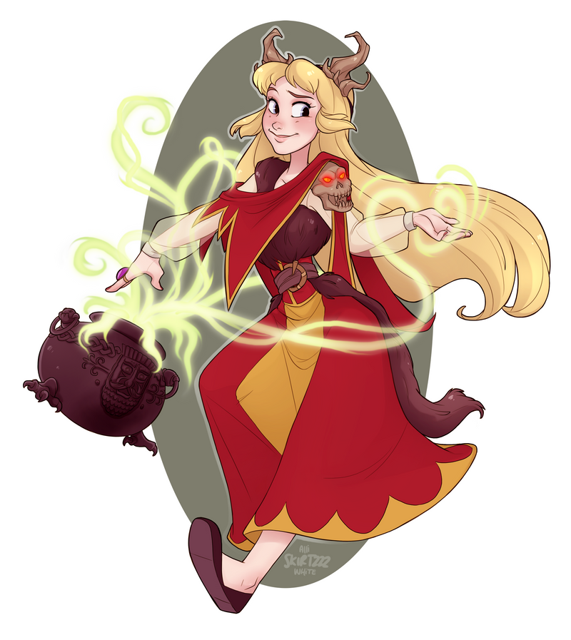 Necromancer Eilonwy by Skirtzzz