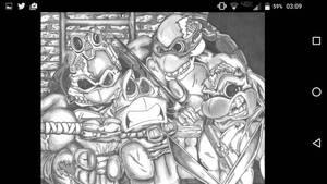 tmnt zombies by Daniel Hulina