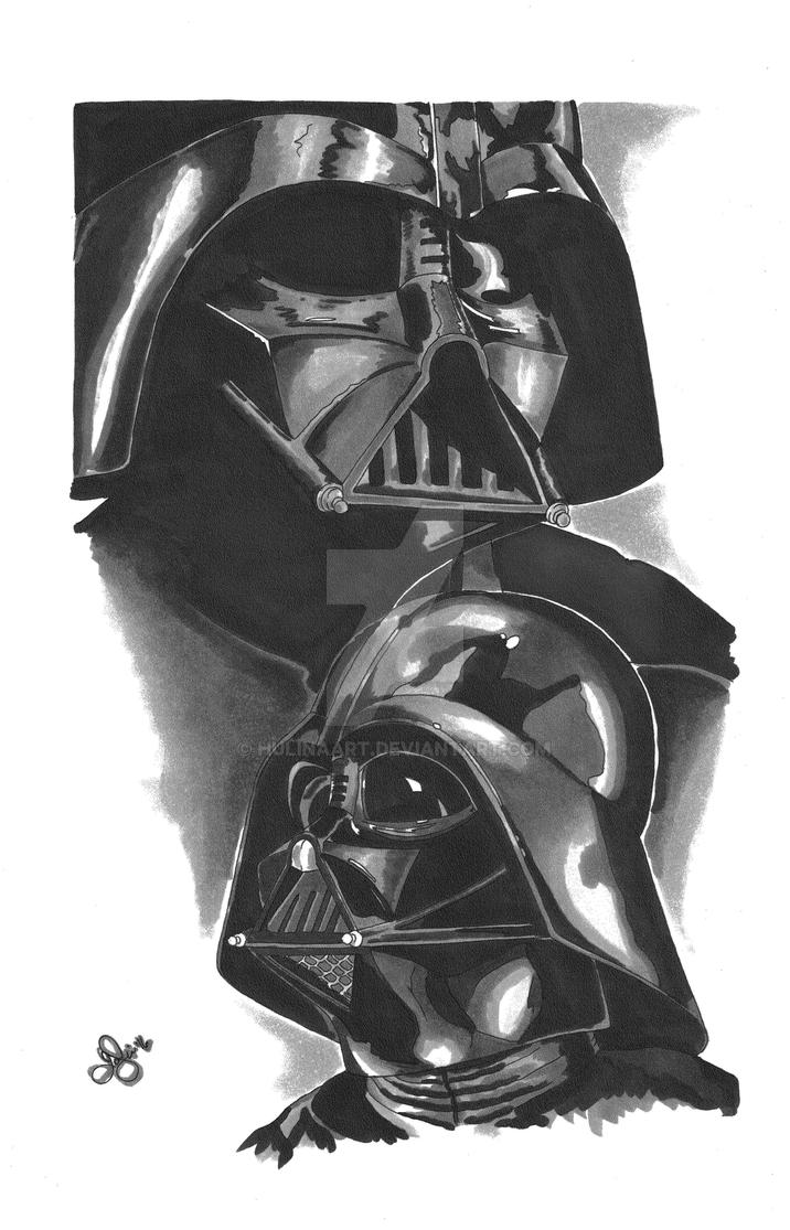 Darth Vader Grey Scale by hulinaart