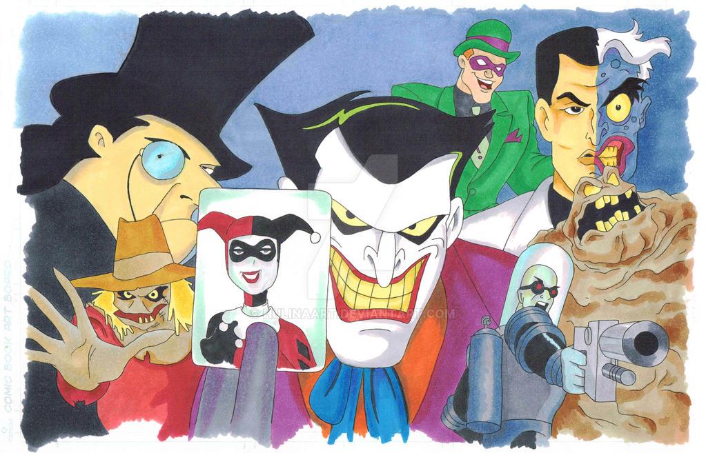 Batman Villians by hulinaart