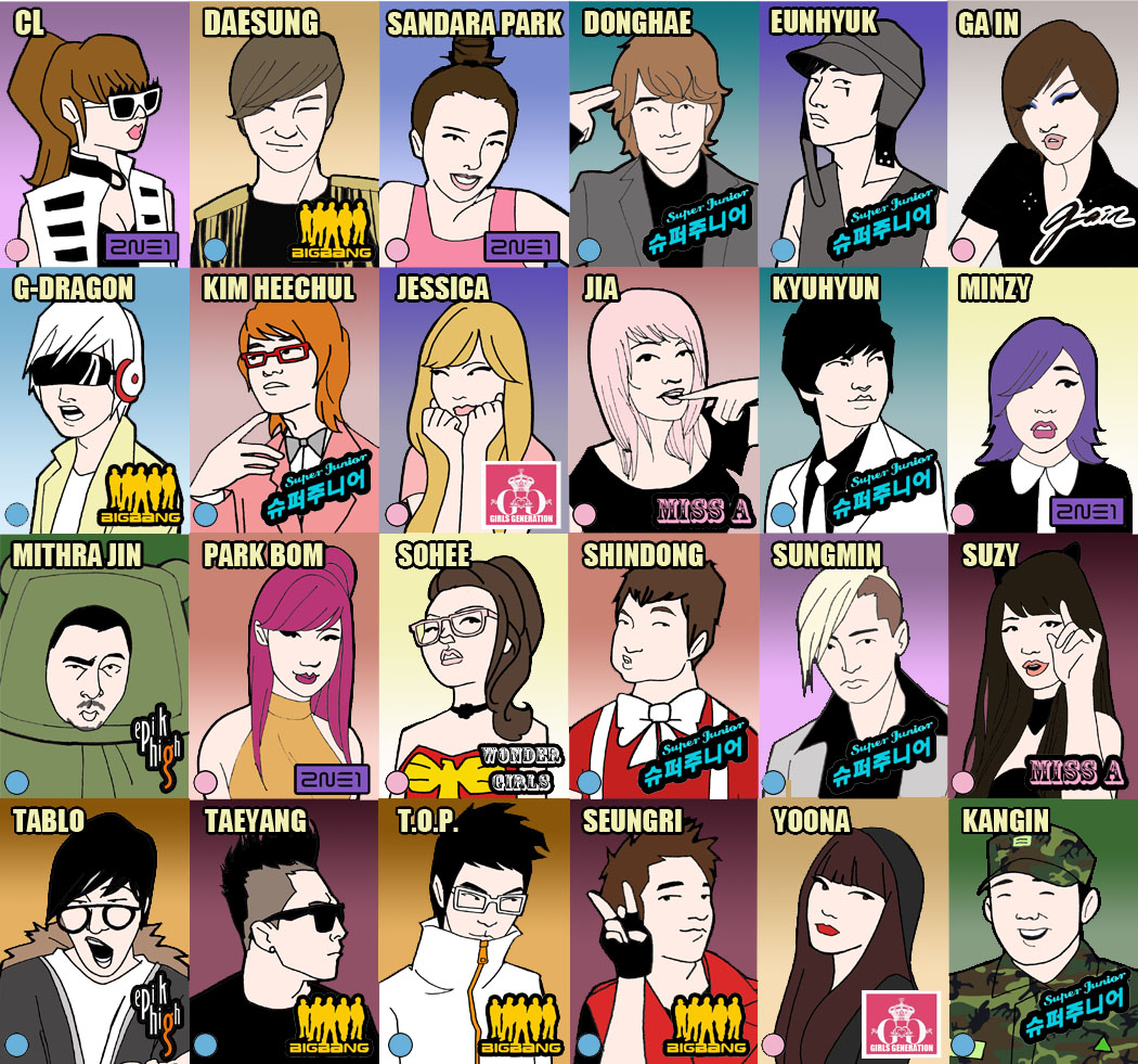 Kpop Guess Who Card Fronts By Not Livingston On Deviantart