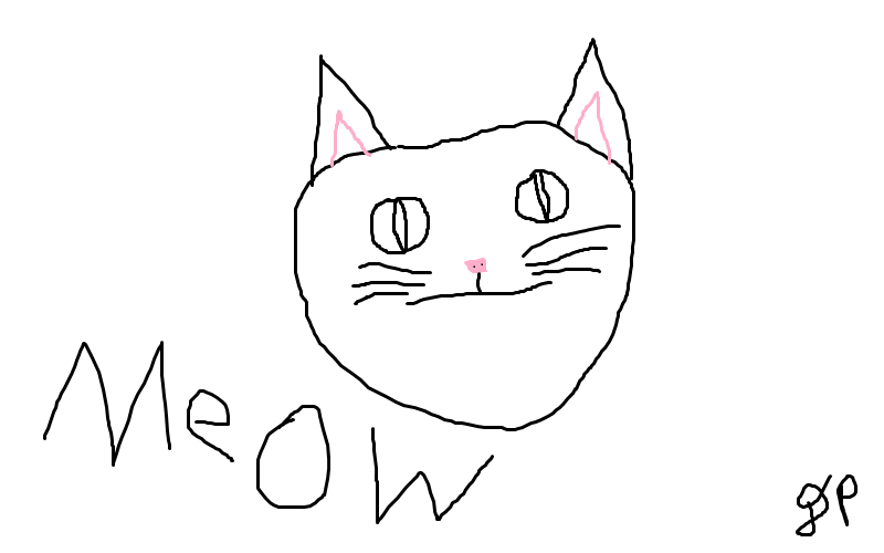 Horrible Cat Drawing by dantheman007a