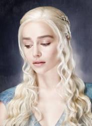 Daenerys, Silver Queen. Digital painting