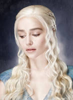 Daenerys, Silver Queen. Digital painting by Kittylyn-Donut