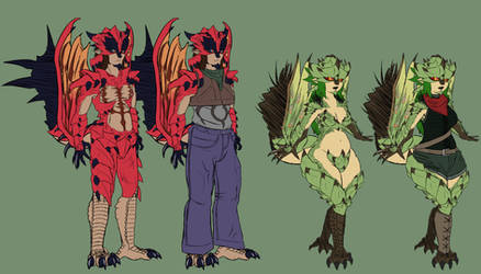Trazz outfits by Aztec-Necromancess