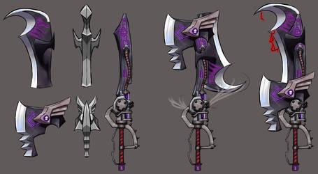 Monster Hunter World Switch Axe by Aztec-Necromancess