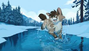 Commission   Morning Swim by OwlCoat