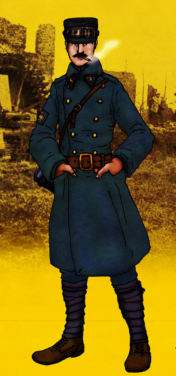WW1 French Railway Engineer by GeneralVyse