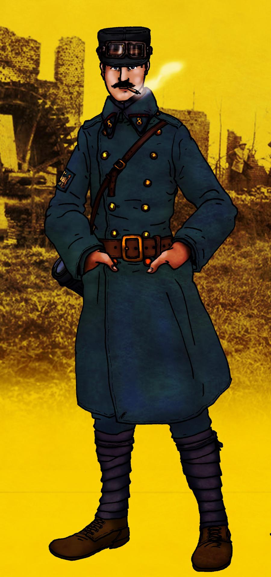 WW1 French Railway Engineer by GeneralVyse