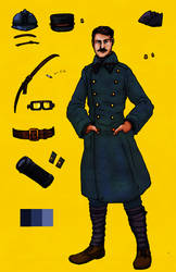 WW1 French Railway Engnr kit by GeneralVyse
