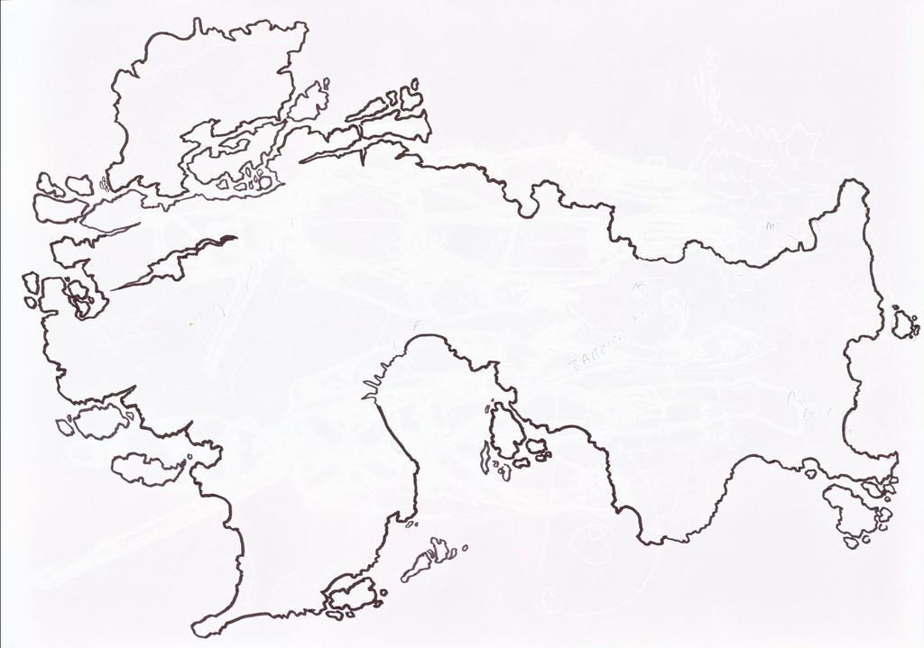Blank Fantasy Map World Map 07