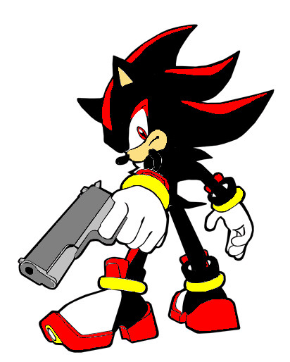 Shadow The Hedgehog With A Gun Coloring Pages Shadow the hedgehog