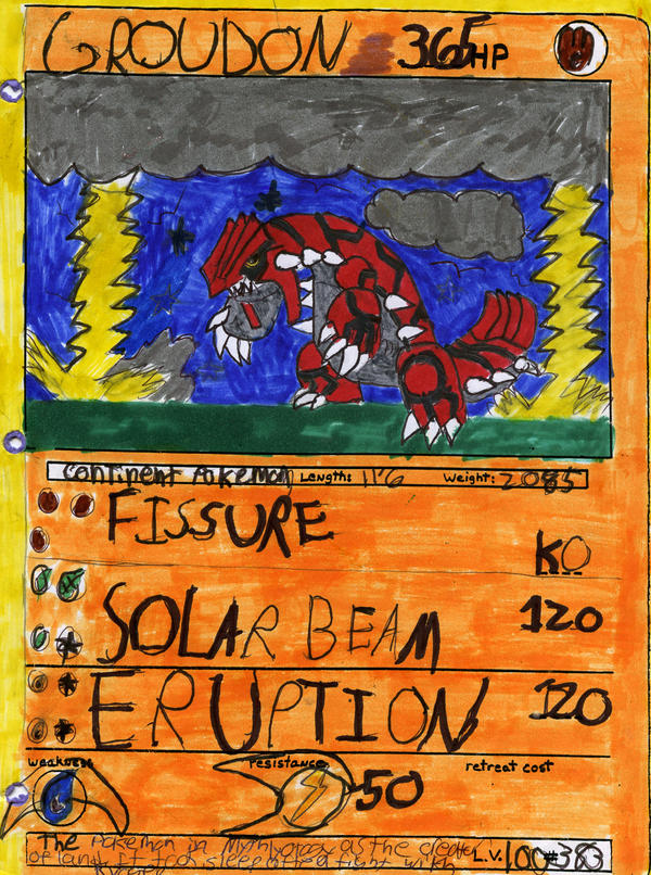 groudon card by meganthespeeddemon on deviantart