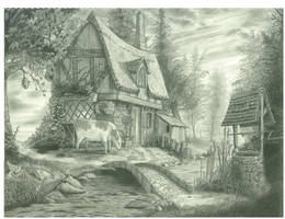 Evening Cottage by Haamurabai