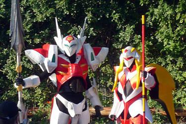 Tekkaman Blade (my boyfriend) and Sword (me) by EliseKin