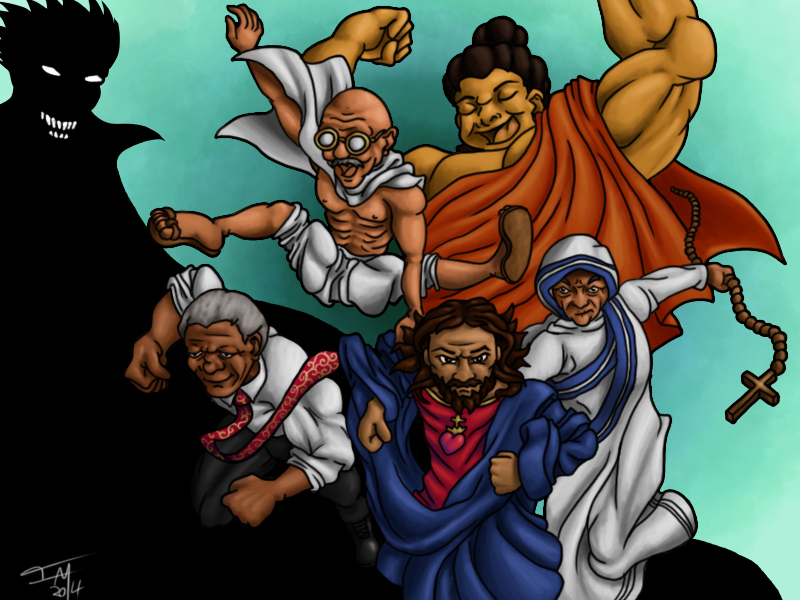 Peaceful Avengers by IanABlakeman