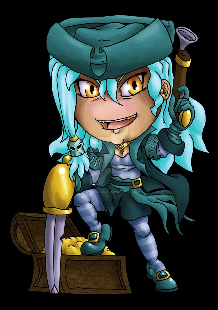 Pirate Chibi Blank by IanABlakeman