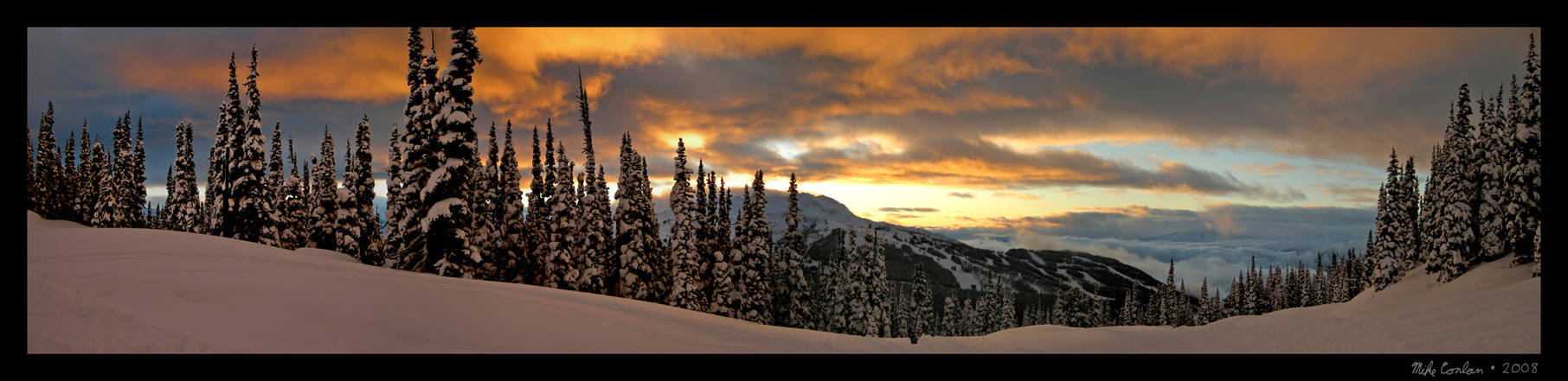 Sunset over Whistler