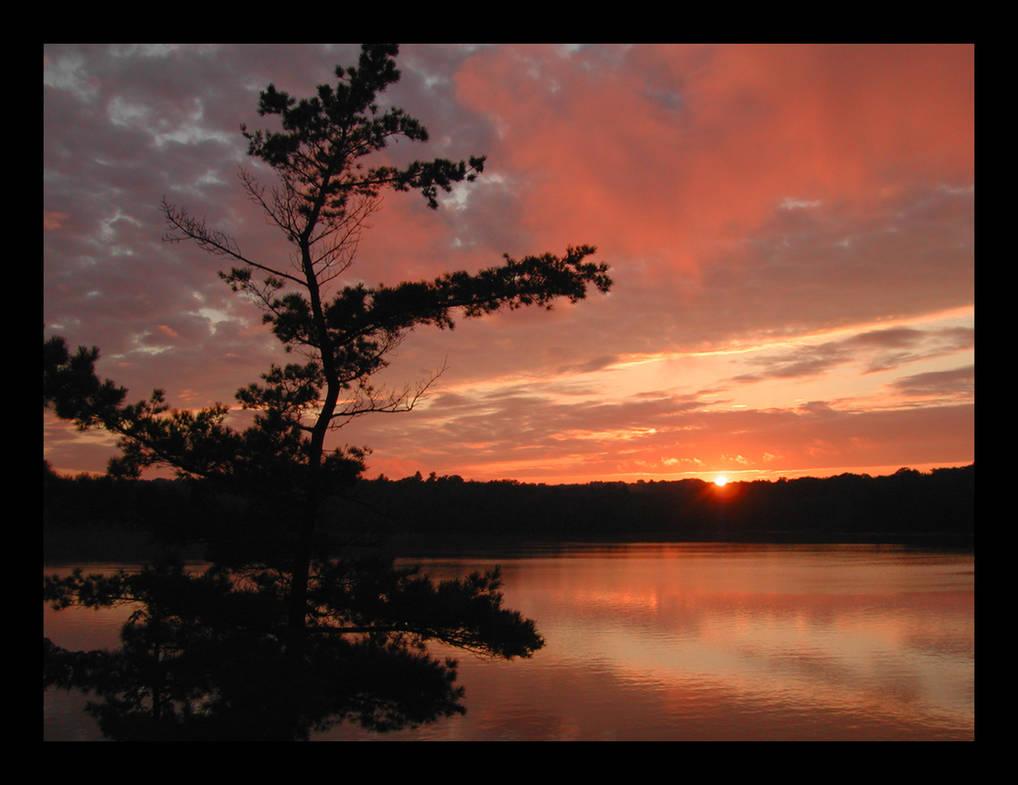 onondaga sunset 2002