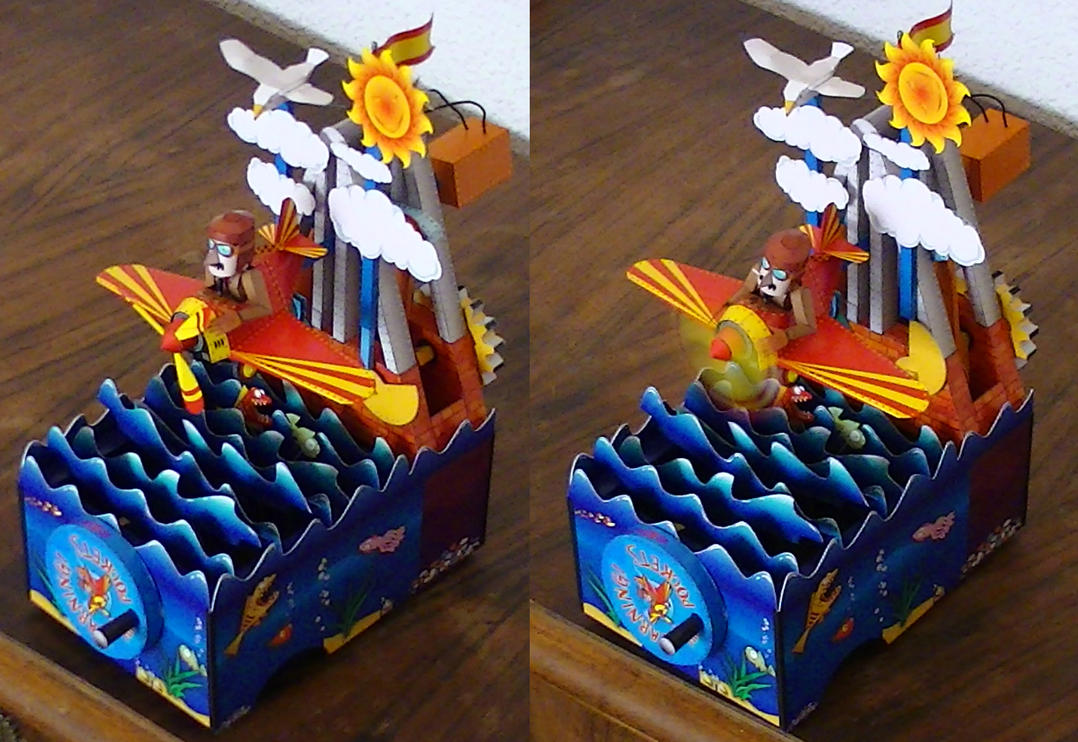Aviador papercraft (automata) by pesadillaaa3