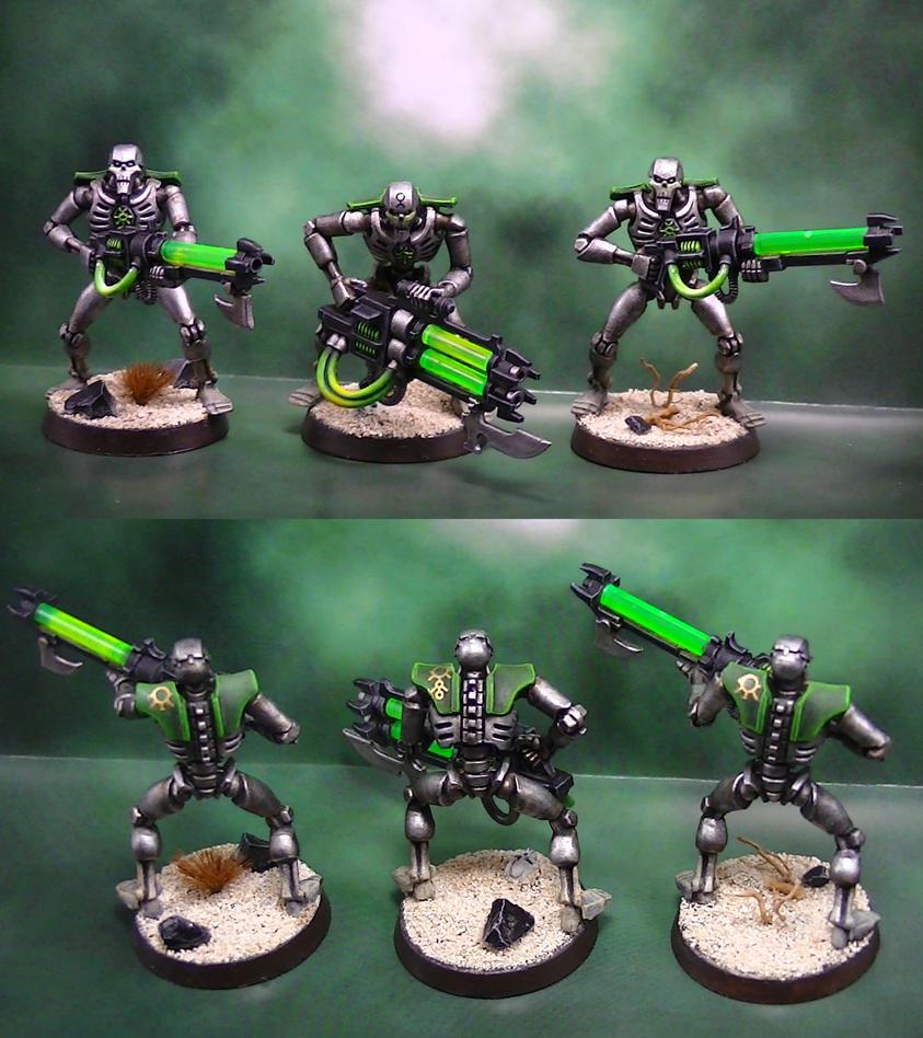 Necron warriors by pesadillaaa3