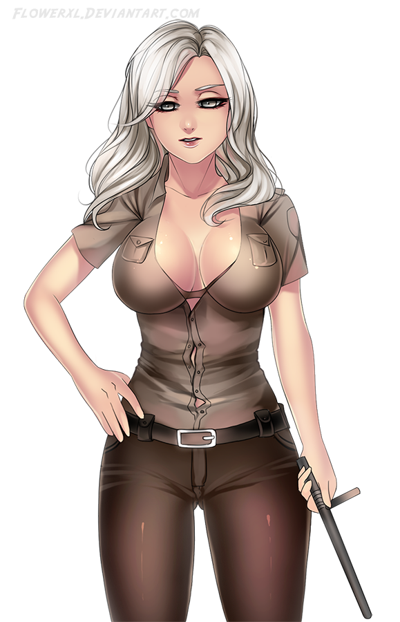 COMMISSION: police sexy girl by Flowerxl