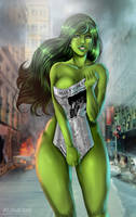 COMMISSION: She Hulk by Flowerxl