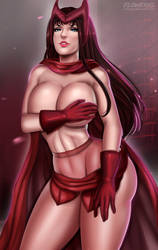 Scarlet Witch by Flowerxl