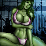 She-Hulk by Flowerxl