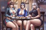 Alicia, Cordelia and Selvaria | Valkyria by Flowerxl