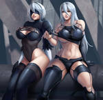 2b and A2 by Flowerxl