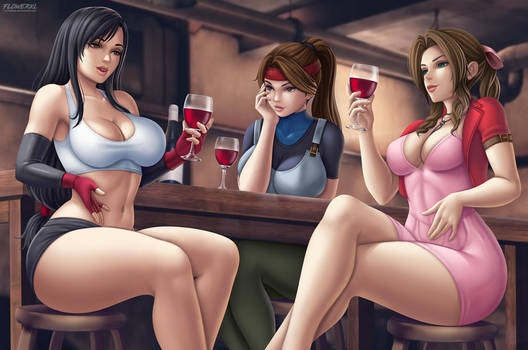 Final Fantasy Tifa, Jessie and Aerith