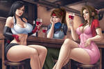 Final Fantasy Tifa, Jessie and Aerith by Flowerxl