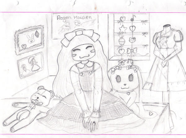 Sweet Lolita Room -unfinished- by AryaHiwatari