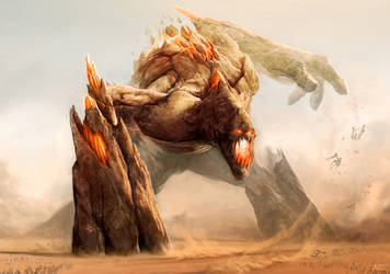 20168 Fantasy Monster Huge Rock Giant by WolfDragonShark