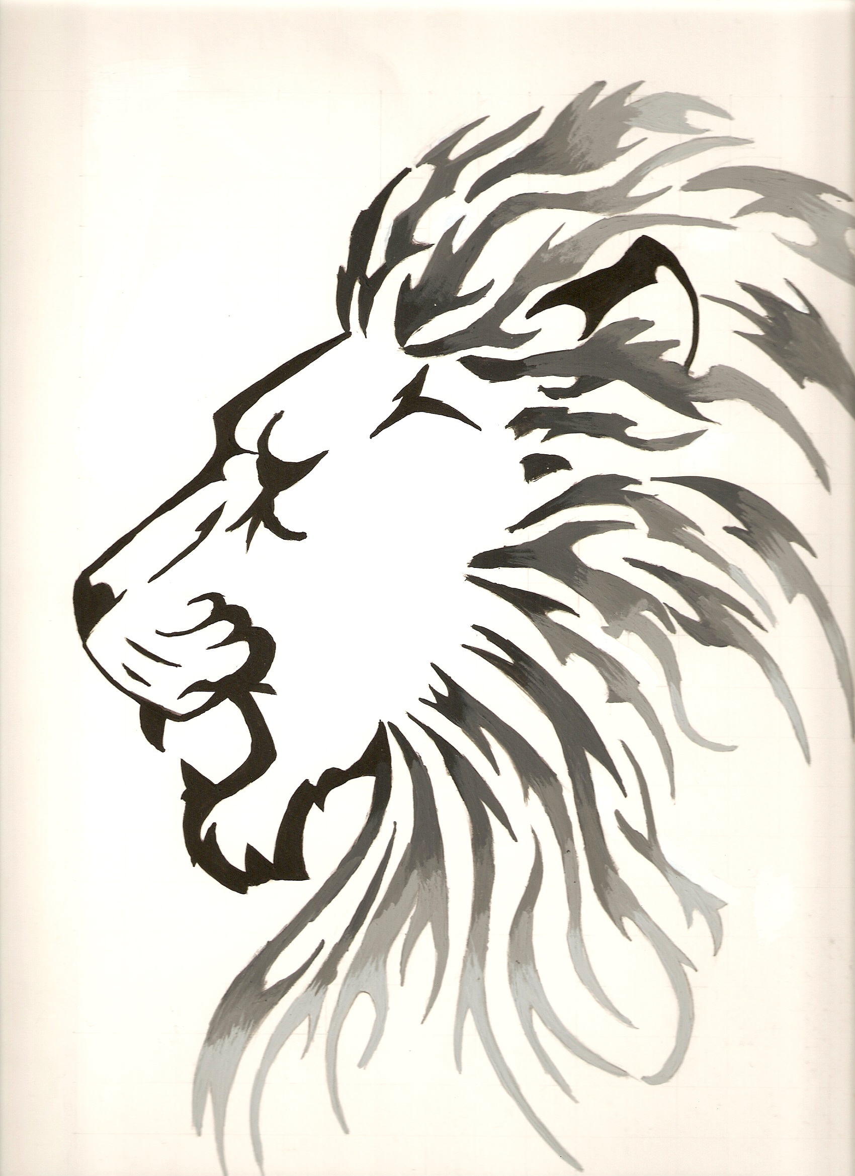 Black and White lion by silvorus on DeviantArt