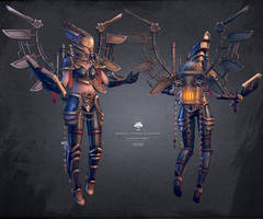 Kimexelis, Goddess of Industry by Soilworker06