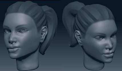 Girl Head Sketch